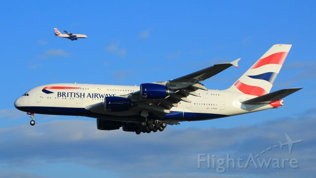 Airbus A380-800 (G-XLEA) - G-XLEA + G-XLEB