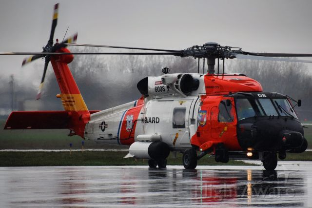 Sikorsky S-70 (C6008) - United States Coast Guard <br />Sikorsky MH-60T Jayhawk<br />Callsign: Helicopter 6008<br />Base: USCGAS Traverse City