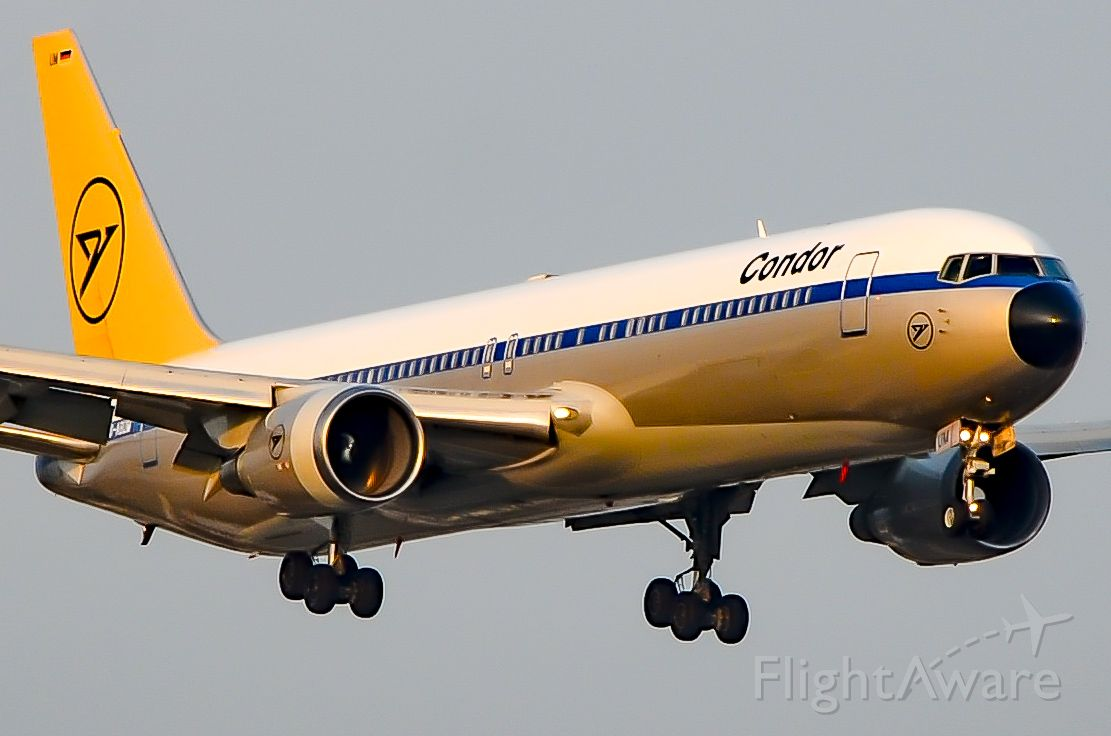 BOEING 767-300 (D-ABUM) - Here is the beautiful Condor retro 767 on final for 23 at Toronto Pearson