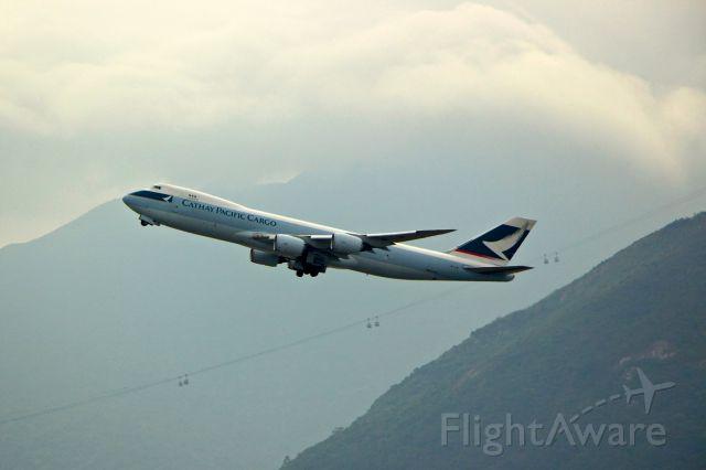 BOEING 747-8 (B-LJB) - Cathay Pacific Boeing 747-8F departing Hong Kong international airport