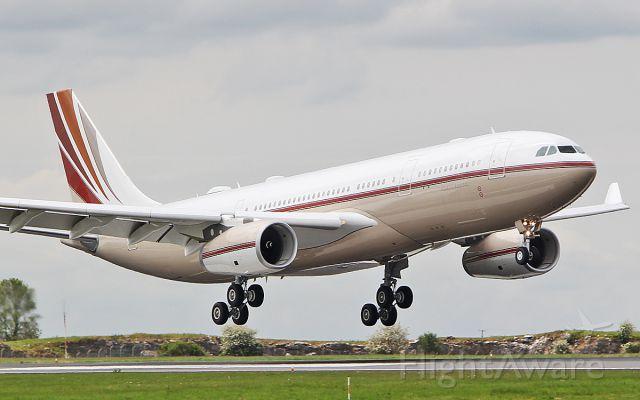 Airbus A330-200 (VP-BHD) - saudi basic industries a330-243cj prestige vp-bhd doing a touch n go at shannon 18/5/19.
