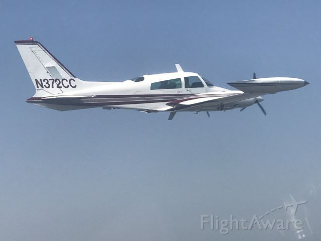 Cessna 310 (N372CC) - N372CC Taken From Yak 52