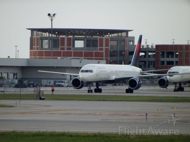 BOEING 767-300 (N617DL) - Diverted flights bound for DTW; Landed at GRR because of storms in Detroit.