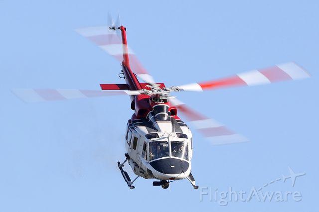 Bell 412 (N301FD) - Flying over lake Balboa in Van Nuys, California.