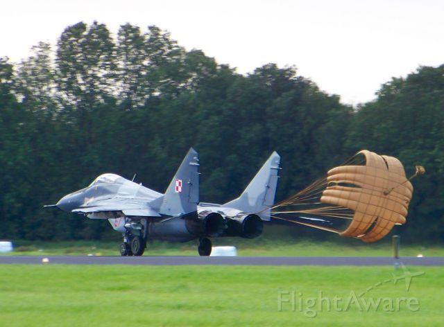 — — - Polish MiG 29 at Dutch air base Volkel during