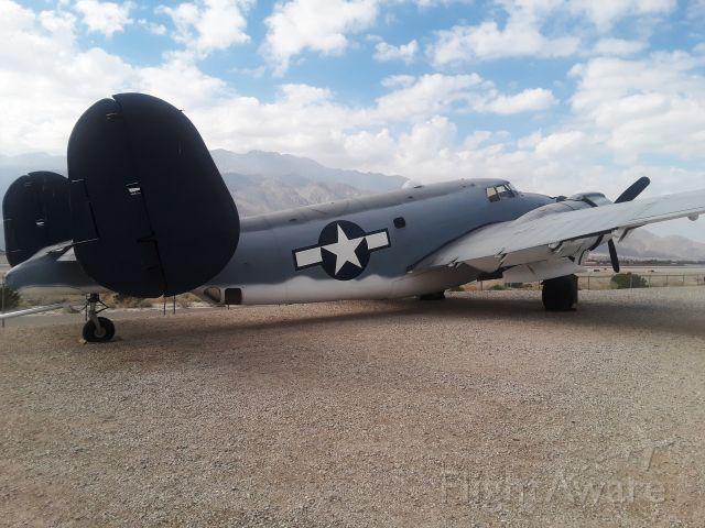 — — - Lockheed PV-2 harpoon on display at Palm Springs Air Museum