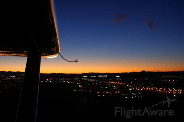 Cessna 170 (N1258D) - Sunset in the traffic pattern