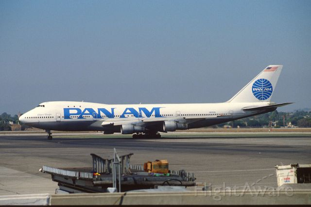 BOEING 747-100 (N659PA) - Taxing at KLAX Intl Airport on 1989/09/01