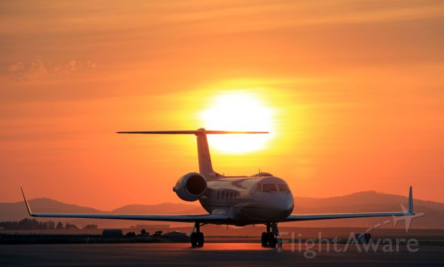N25VG — - A Gulfstream IV parked in Coeur d