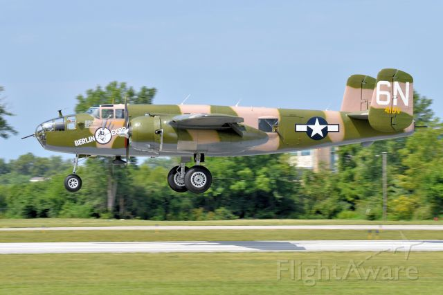 North American TB-25 Mitchell (N10V) - 08-26-21. Good Camoflaughe. Matches the tree's!