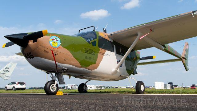 "Cessna Super Skymaster (N446TF) - Vietnam Vet O-2B ""Snoopy 7"" at the 2021 Sun 'N Fun Aerospace Expo."