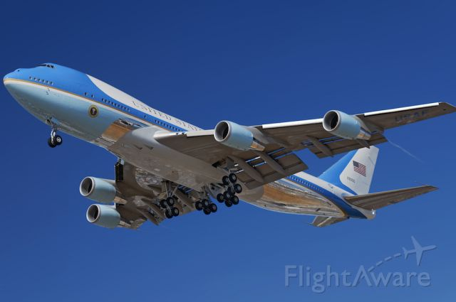 N29000 — - President Trump arrives on Air Force One, a Boeing VC-25, a military version of the Boeing 747-200B, to the Los Angeles International Airport, LAX, in Westchester, Los Angeles, California on September 17, 2019, on a multi-stop trip to California, including fund raising events in Beverly Hills and elsewhere
