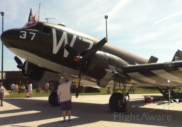 Douglas DC-3 (N345AB) - Douglas C-47 Skytrain (DC-3) 330652 W7-R/37 at Manassas Air Show - May 12, 2012