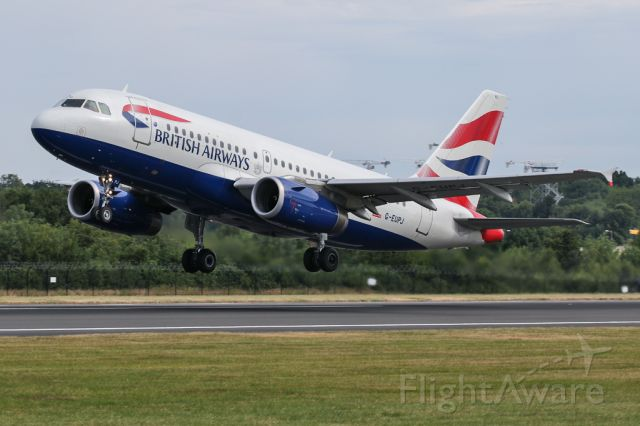 Airbus A319 (G-EUPJ) - BA1389 on the return to LHR