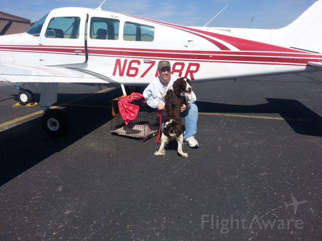 Beechcraft Sundowner (N6708R) - MAESSR - Springer Spaniel rescue flight, Kayla arrives at KOFP, Hanover County Municipal Airport.