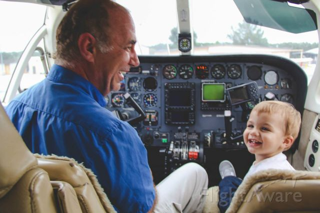 Cessna 340 (N211EJ) - Me and my Grandson