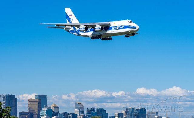 Antonov An-124 Ruslan (RA-82078) - Antonov AN-124 Ruslan on final into Calgary.