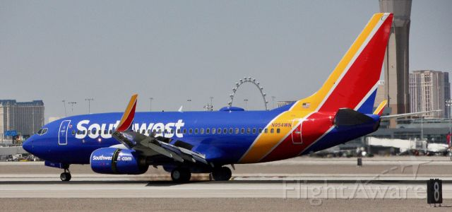Boeing 737-700 (N954WN) - Please change the size to full screen to decrease the blurriness.