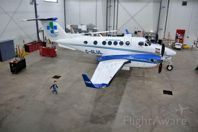 Beechcraft Super King Air 200 (C-GLUL) - C-GLUL Alberta Air Ambulance in its new hanger CYXH