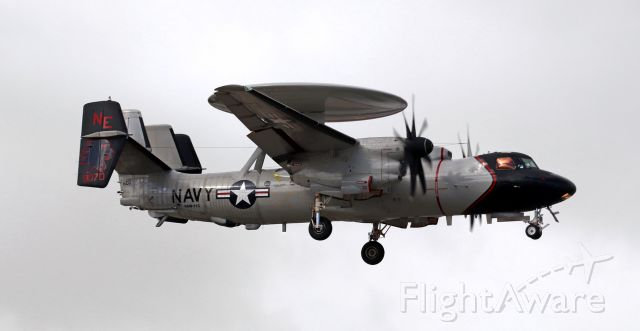 """Grumman E-2 Hawkeye (16-9070) - United States Navy Grumman E-2D Hawkeye (169070)<br />VAW 113 (Airborne Command and Control Squadron One One Three) """"Black Eagles""""<br />Current Home Port: NAS Pt Mugu, CA<br />Assigned to the USS Ronald Reagan (CVN 76) .... Carrier Air Wing Two (CVW 2)"""