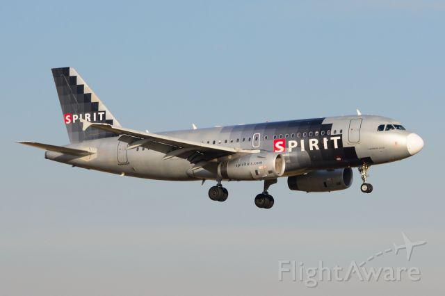 Airbus A319 (N528NK) - Spirit - N528NK - A319 - Arriving KDFW 12/27/2013