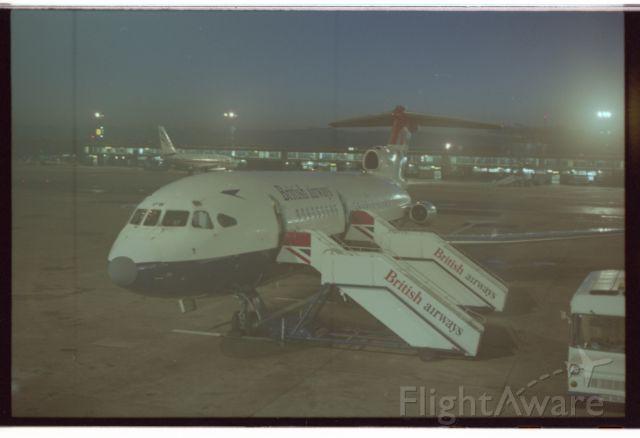 G-ARPW — - British Airways Trident 1C G-ARPW on Shuttle back up duties at Manchester in 1981