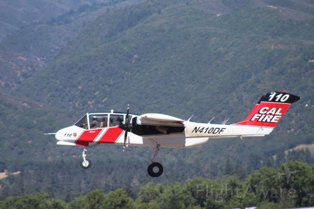 N410DF — - air attack 110 as well as T91 and T90 come bacl to ukiah air attack base after long needed runway project.