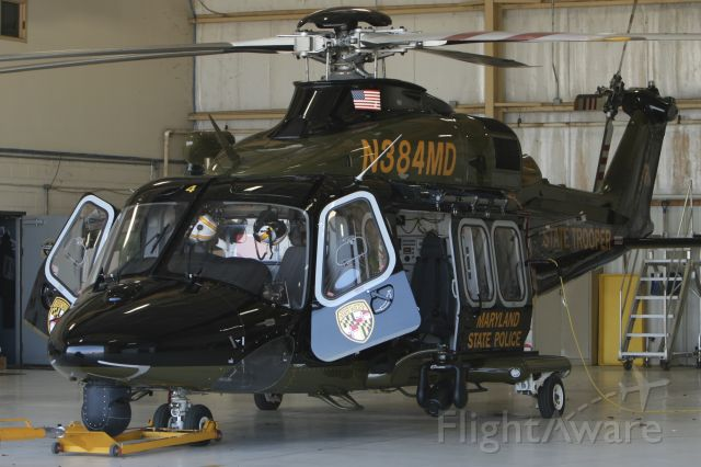 BELL-AGUSTA AB-139 (N384MD) - March 11, 2021 - rests inside hangar all day to avoid getting sunburn