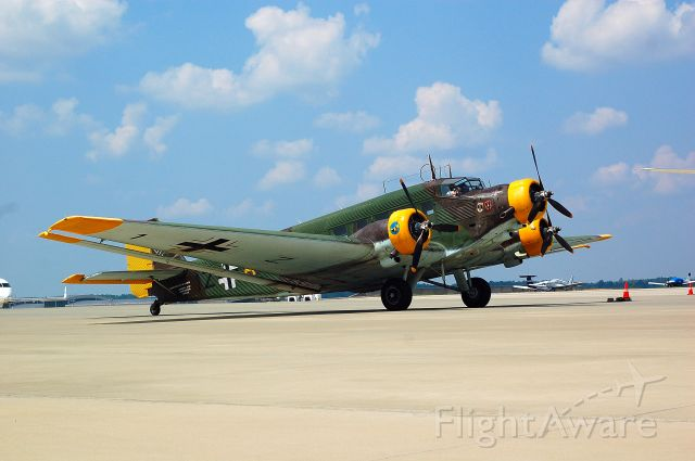 JUNKERS Ju-52/3m (N352JU) - The only flying US registered Junkers JU52 in for a fuel stop at RDU