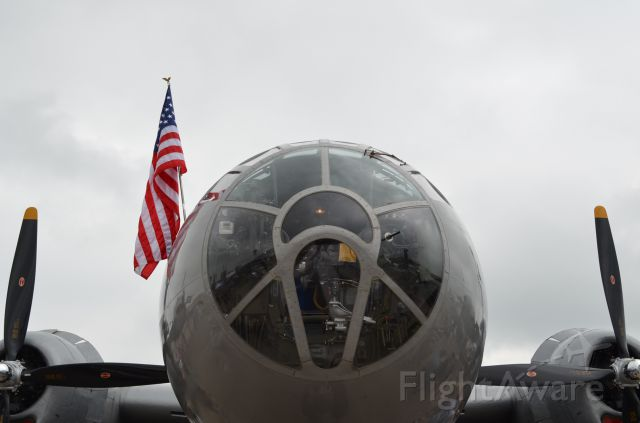 """Boeing B-29 Superfortress (NX529B) - EAA 2011 B-29 """"Fifi"""" front view."""