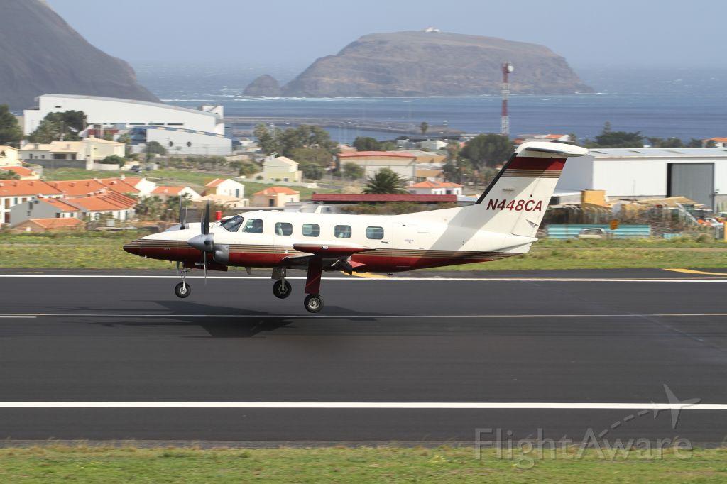 Piper Cheyenne 400 (N448CA) - landing Rwy 36