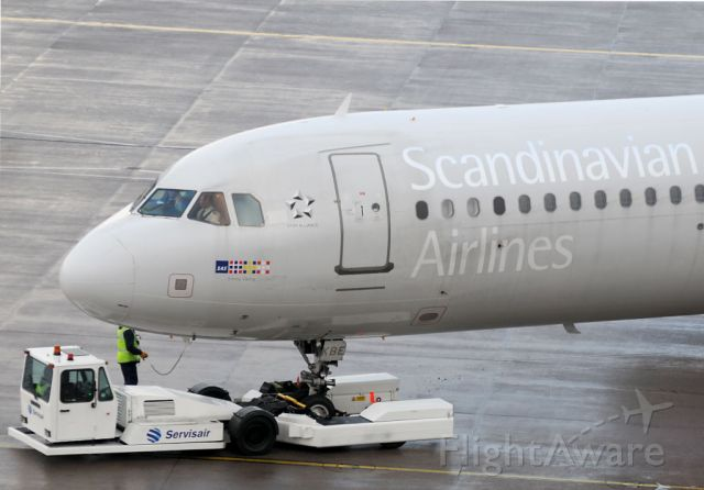 Airbus A321 — - Emma Viking is readied for departure on a murky morning.