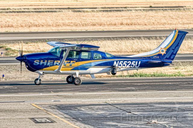 Cessna 206 Stationair (N5525U) - Alameda County Sheriff' Cessna U206 Stationair at Livermore Municipal Airport (CA). June 2021