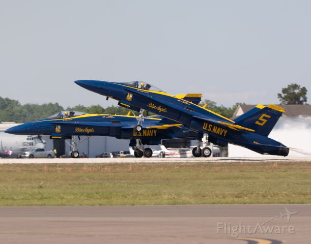 McDonnell Douglas FA-18 Hornet — - Blue Angels Solos taking off Sun n