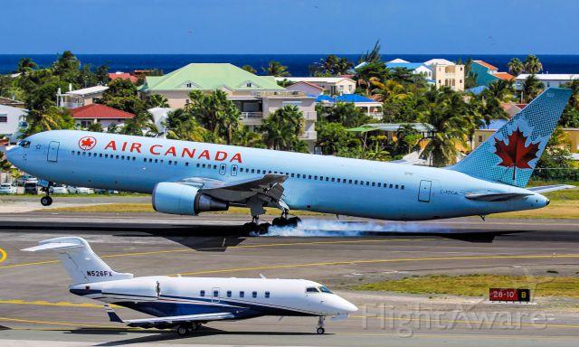 BOEING 767-300 (C-FPCA) - Air Canada landing at ST Maarten