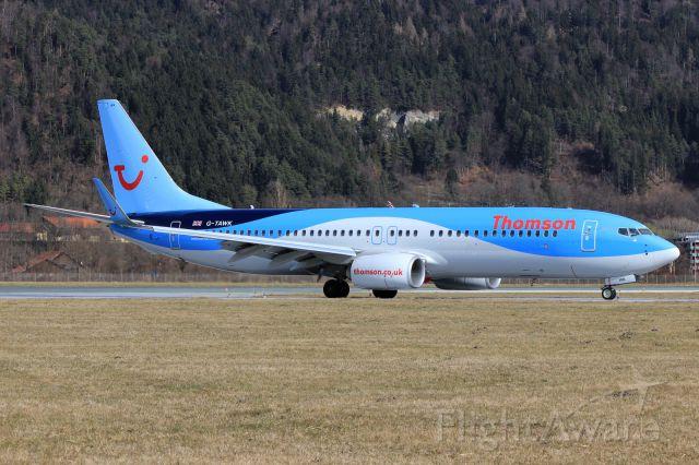 Boeing 737-800 (G-TAWK)