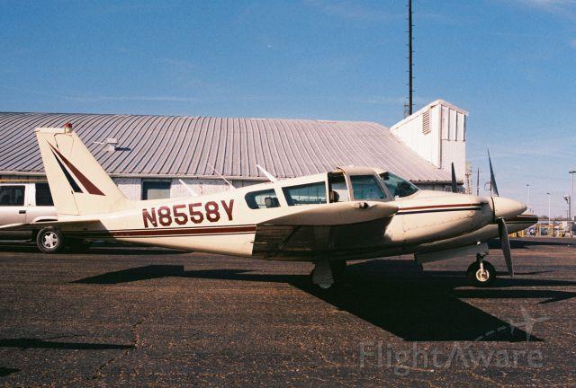 Piper PA-30 Twin Comanche (N8558Y) - Piper PA-30 Twin Comanche at Lafayette Regional Airport KFLT, circa 2000.