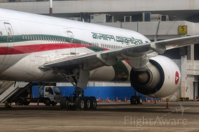 BOEING 777-300 (S2-AHN) - 14th October, 2020: Parked at the gate at Dhaka's Zia International Airport. (See http://www.planexplorer.net/Xploregallery/displayimage.php?pid=1733 )