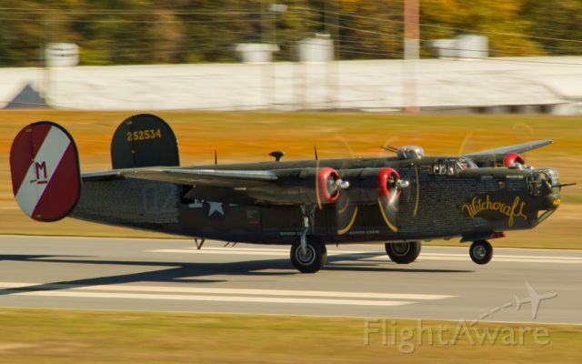 Consolidated B-24 Liberator (N224J) - Collings Foundation B-24J landing in Hickory, NC. 2010-10-22