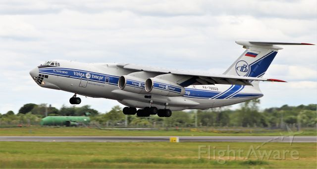 Ilyushin Il-76 (RA-76503) - volga-dnepr il-76td-90vd ra-76503 dep shannon for st.johns 15/5/20.