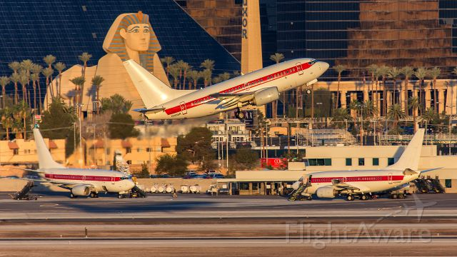 BOEING 737-600 (N365SR) - Early morning action on the Janet ramp at Las Vegas.