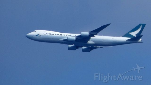 Boeing 747-400 (B-LJC) - On approach is this 2009 Cathay Pacific  Cargo Boeing 747-467F in the Autumn of 2019.