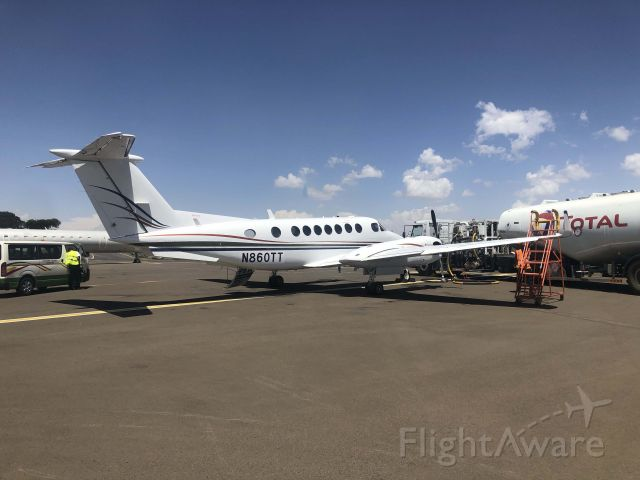 Beechcraft Super King Air 300 (N860TT) - Refueling at Addis on a ferry flight South Africa to USA.